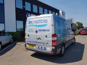 Incredible Window Cleaning Van, window cleaning, national, UK